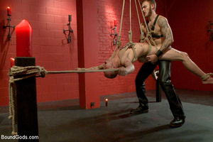 Slave man gets tied and dominated plus w - XXX Dessert - Picture 14