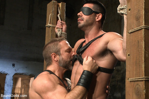 Slave man gets tied down, scalded with h - XXX Dessert - Picture 2
