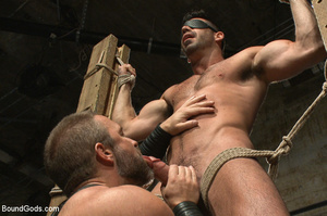 Slave man gets tied down, scalded with h - XXX Dessert - Picture 5