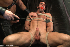 Slave man gets tied down, scalded with h - XXX Dessert - Picture 10