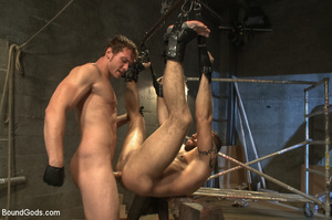 Gay stud hung upside down sucks cock and - XXX Dessert - Picture 12