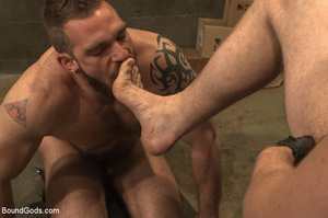 Gay stud hung upside down sucks cock and - XXX Dessert - Picture 14