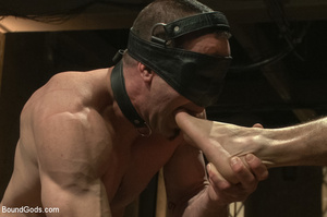 Two gay guys lick master's cock as they  - XXX Dessert - Picture 7
