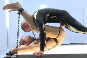 Sweet bondage as tied up slave sucks coc - Picture 14