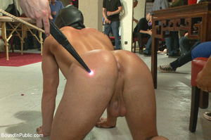 Guy tied and laid out in public gets fuc - XXX Dessert - Picture 1
