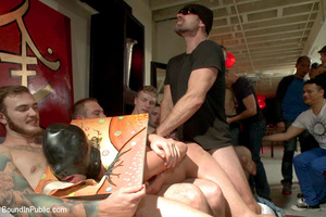 Guy tied and laid out in public gets fuc - XXX Dessert - Picture 6