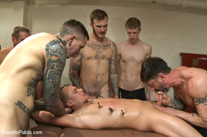 Guy tied and laid out in public gets fuc - XXX Dessert - Picture 13