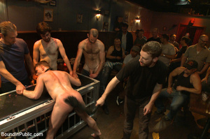 Randy guys tie up cock sucker and spray  - XXX Dessert - Picture 4