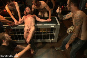 Randy guys tie up cock sucker and spray  - XXX Dessert - Picture 5