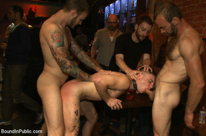 Randy guys tie up cock sucker and spray  - XXX Dessert - Picture 8