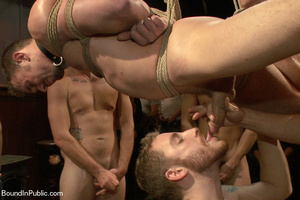 Horny guys hang and bound dude and shove - XXX Dessert - Picture 7