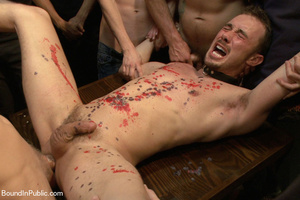 Horny guys hang and bound dude and shove - XXX Dessert - Picture 13