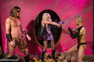 Slutty temptress and two guys in hot pus - XXX Dessert - Picture 11