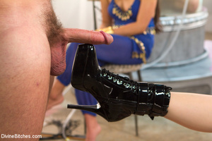 Slutty temptress and two guys in hot pus - XXX Dessert - Picture 14