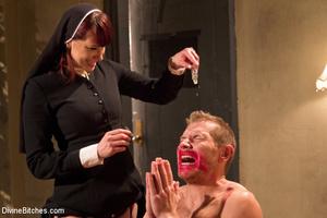 Slutty nun lords over priest with spanki - XXX Dessert - Picture 6