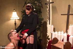 Slutty nun lords over priest with spanki - XXX Dessert - Picture 14