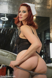 hot redhead makes young