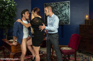 Hot babe queens two guys binding and mak - XXX Dessert - Picture 2