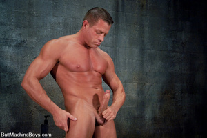 Gay dude plays with his cock as his tigh - XXX Dessert - Picture 1