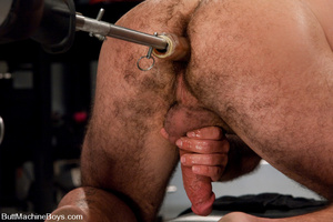 Muscled tattooed dude moans as his butth - XXX Dessert - Picture 12