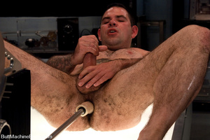 Muscled tattooed dude moans as his butth - XXX Dessert - Picture 13