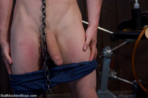Young stud use machine on dick and then  - XXX Dessert - Picture 1
