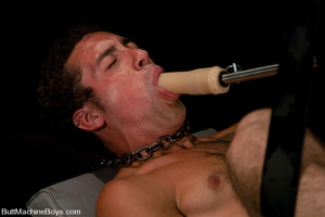 Randy cock sucker sucks machine dick bef - XXX Dessert - Picture 11