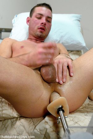 Cute dude with big dick wanks his cock a - XXX Dessert - Picture 13