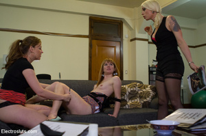 Two slutty girls are bound up, made to l - XXX Dessert - Picture 2