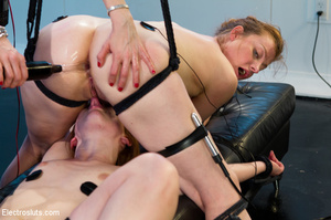 Two slutty girls are bound up, made to l - XXX Dessert - Picture 14