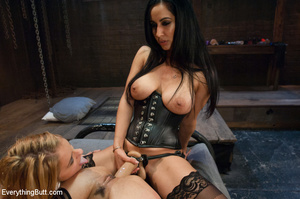 Hot blonde and two brunettes licking and - XXX Dessert - Picture 11