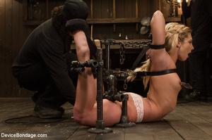 Blonde gets gagged and bound to pole wit - XXX Dessert - Picture 2