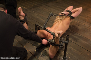 Blonde gets gagged and bound to pole wit - XXX Dessert - Picture 4