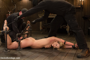 Blonde gets gagged and bound to pole wit - XXX Dessert - Picture 5
