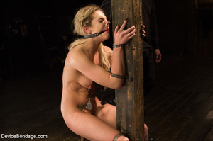 Blonde gets gagged and bound to pole wit - XXX Dessert - Picture 8