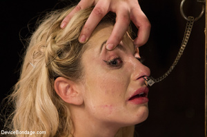 Blonde gets gagged and bound to pole wit - XXX Dessert - Picture 10