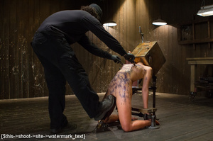 Chick gets bound and head placed in box  - XXX Dessert - Picture 5