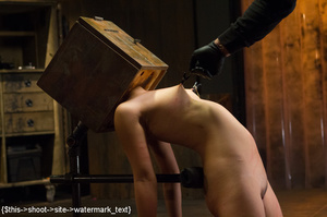 Chick gets bound and head placed in box  - XXX Dessert - Picture 6