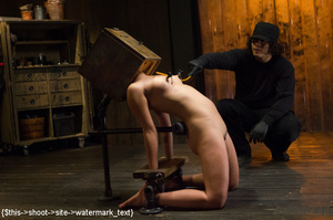 Chick gets bound and head placed in box  - XXX Dessert - Picture 12