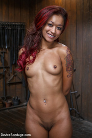 cute tattooed ebony girl