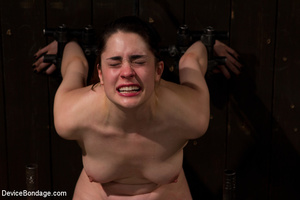 Chick in sweet pain as she is pegged, bo - XXX Dessert - Picture 5