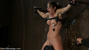 Cute big tits chick is chained and suspe - XXX Dessert - Picture 7