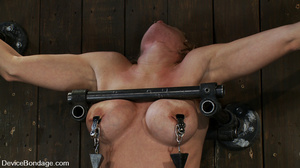 Cute big tits chick is chained and suspe - XXX Dessert - Picture 8