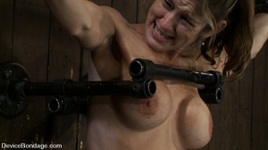 Cute big tits chick is chained and suspe - XXX Dessert - Picture 12