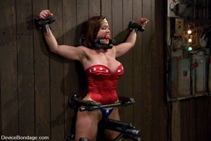 Cute babe in superhero outfit gets gagge - XXX Dessert - Picture 5