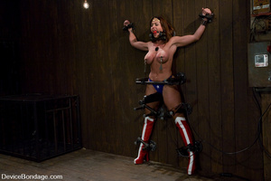 Cute babe in superhero outfit gets gagge - XXX Dessert - Picture 10