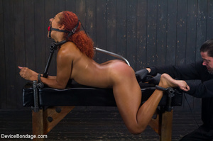 Hot redhead strapped to painful devices  - XXX Dessert - Picture 13
