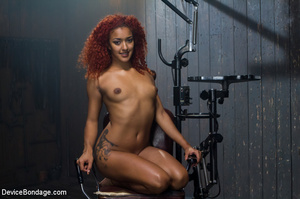 Hot redhead strapped to painful devices  - XXX Dessert - Picture 15