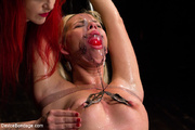 sexy blonde gets tied