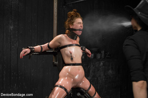 Bitch strapped tight to devices gets cho - XXX Dessert - Picture 10